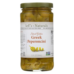 Jeff's Natural Jeff's Natural Greek Pepperoncini - Greek Pepperoncini - Case Of 6 - 12 Oz.