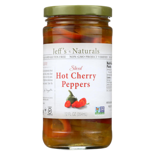 Jeff's Natural Jeff's Natural Hot Cherry Pepper - Hot Cherry Pepper - Case Of 6 - 12 Oz.
