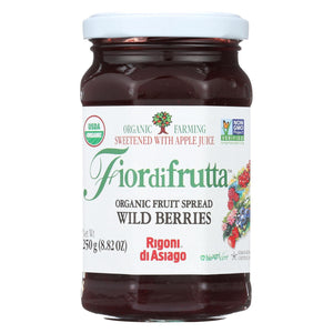 Fiordifrutta Spread - Organic - Wild Berries - Case Of 6 - 8.82 Oz