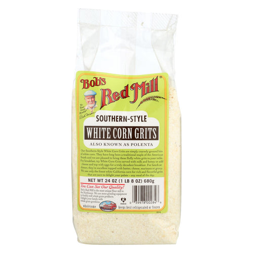 Bob's Red Mill White Corn Grits - Polenta - 24 Oz - Case Of 4