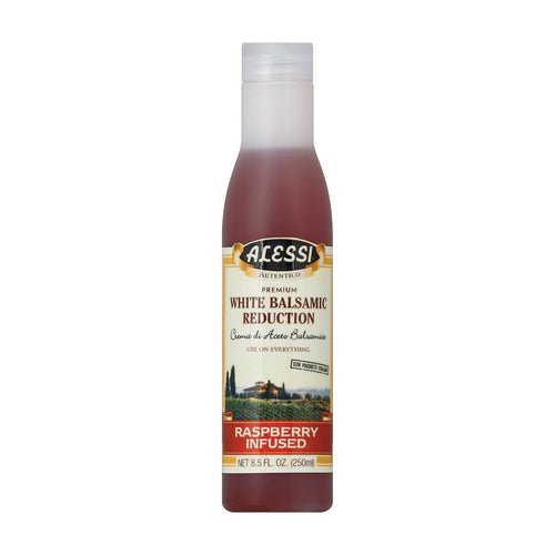 Alessi Vinegar - White Balsamic Raspberry Blush - Case Of 6 - 8.5 Oz.