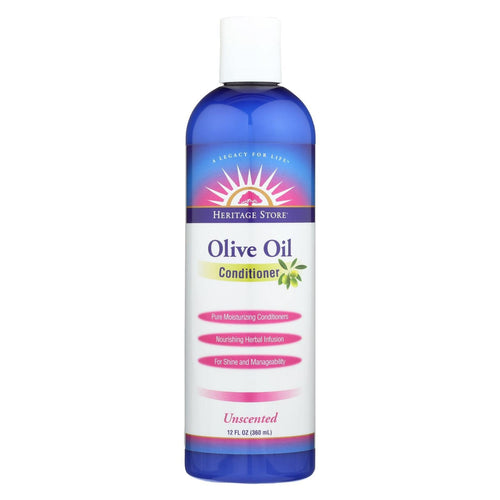 Heritage Store Olive Oil Conditioner - Unscented - 12 Fl Oz
