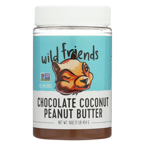 Wild Friends Peanut Butter - Chocolate Coconut - Case Of 6 - 16 Oz.