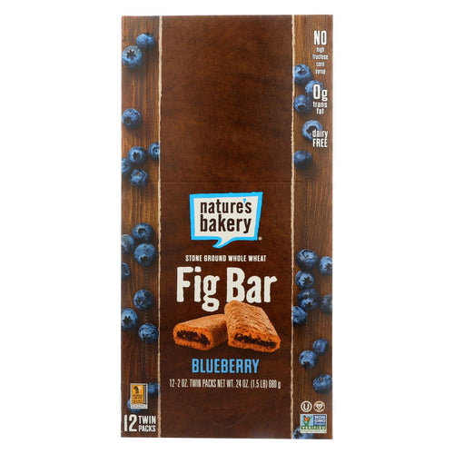 Nature's Bakery Stone Ground Whole Wheat Fig Bar - Blueberry - Case Of 12 - 2 Oz.