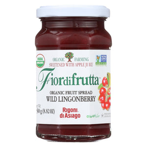 Fiordifrutta Organic Fruit Spread Lingonberry - Fruit Spread Lingonberry - Case Of 6 - 8.82 Oz.