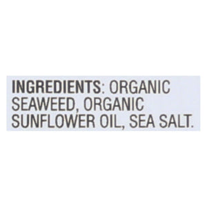 Gimme Organic Seaweed Chips - Sea Salt - Case Of 12 - 0.35 Oz.