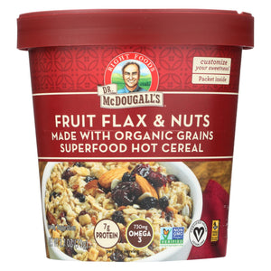 Dr. Mcdougall's Organic Fruits Flax And Nuts Superfood Hot Cereal Cup - Case Of 6 - 2.7 Oz.