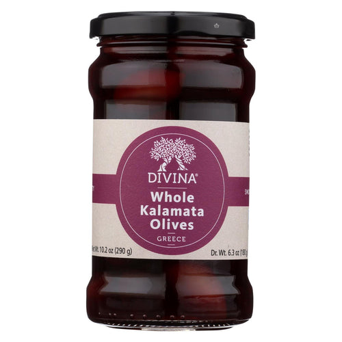 Divina - Kalamata Olives - Case Of 6 - 6.3 Oz.