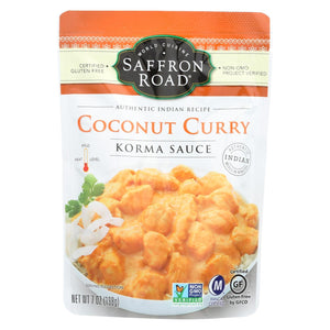 Saffron Road Korma Sauce - Coconut Curry - Case Of 8 - 7 Oz.