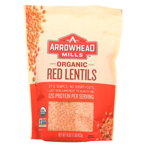 Arrowhead Mills - Organic Red Lentils - Case Of 6 - 16 Oz.