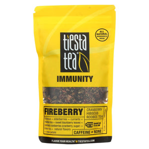 Tiesta Tea Immunity Rooibos Tea - Fire Berry - Case Of 6 - 1.7 Oz.