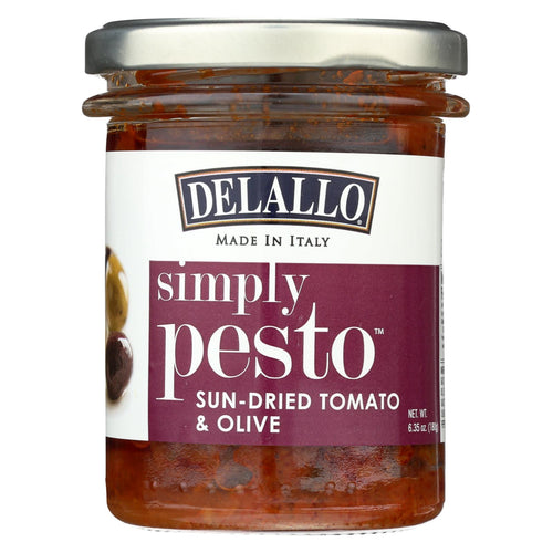 Delallo - Pasta Sauce - Sun-dried Tomato & Olive - Case Of 6 - 6.35 Oz.