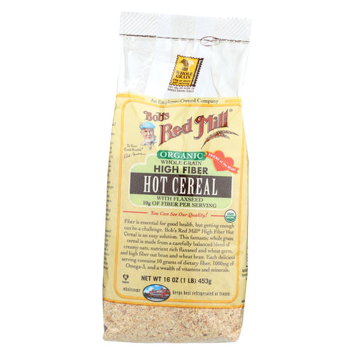 Bob's Red Mill Organic Whole Grain High Fiber Hot Cereal - 16 Oz - Case Of 4