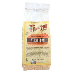 Bob's Red Mill - Wheat Bran - 8 Oz - Case Of 4