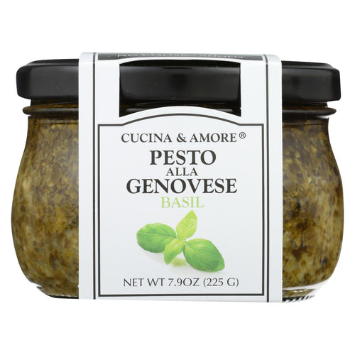 Cucina And Amore - Pesto - Alla Genovese Basil - Case Of 6 - 7.9 Fl Oz.