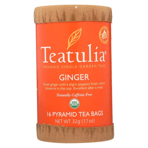 Teatulia Organic Teatulia Ginger Tea - Case Of 6 - 16 Bag