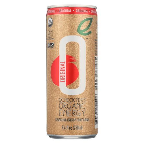 Scheckter's Og Beverages Organic Energy Beverage Original - Case Of 12 - 8.4 Fl Oz.