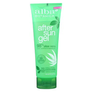 Alba Botanica - After Sun Gel - 98% Aloe - 8 Oz
