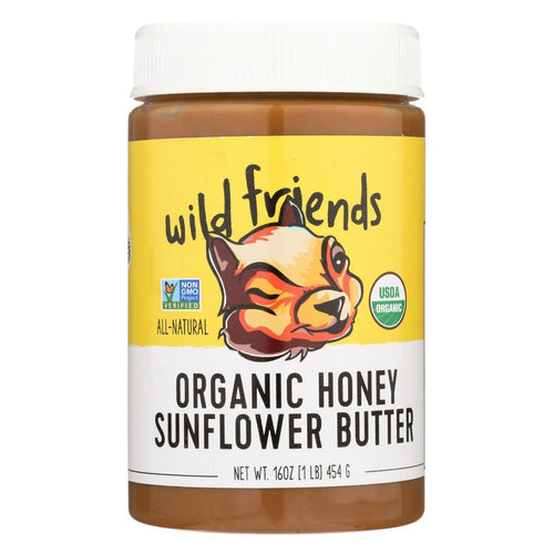 Wild Friends Sunflower Butter - Organic Honey - Case Of 6 - 16 Oz.