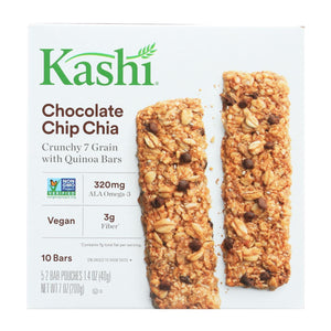 Kashi Chocolate Chip Chia Crunchy Granola And Seed Bars - Case Of 12 - 7 Oz.