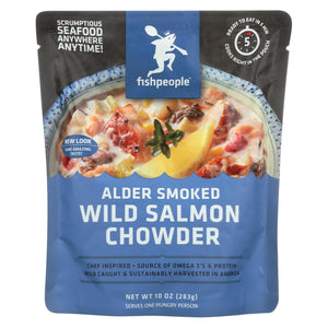 Fishpeople Wild Salmon Chowder - Alder Smoked - Case Of 12 - 10 Oz.