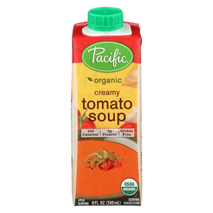 Pacific Natural Foods Creamy Tomato Soup - Single Serve - Case Of 12 - 8 Oz.