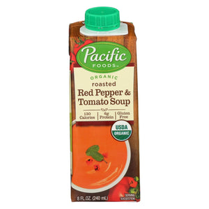 Pacific Natural Foods Soup - Roasted Red Pepper And Tomato - Case Of 12 - 8 Oz.