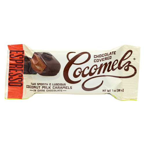 Cocomel - Dark Chocolate Covered Cocomel -s - Espresso - Case Of 15 - 1 Oz.