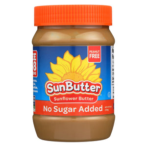 Sunbutter Sunflower Butter - No Sugar Added - Case Of 6 - 16 Oz.