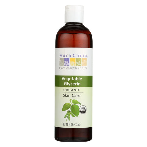 Aura Cacia - Skin Care Oil - Organic Vegetable Glycerin Oil - 16 Fl Oz