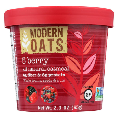 Modern Oats All Natural Oatmeal - 5 Berry - Case Of 6 - 2.3 Oz.