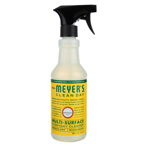 Mrs. Meyer's Clean Day - Multi-surface Everyday Cleaner - Honeysuckle - 16 Fl Oz - Case Of 6