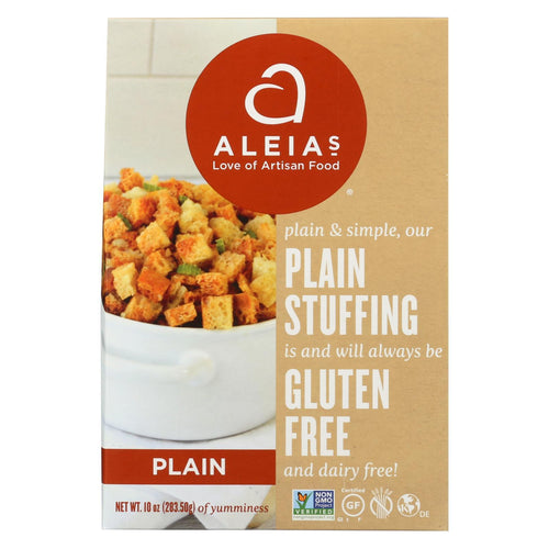 Aleia's - Gluten Free Stuffing Mix - Plain - Case Of 6 - 10 Oz