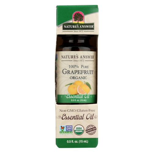 Natures Answer Essential Oil - Organic - Grapefruit - .5 Oz