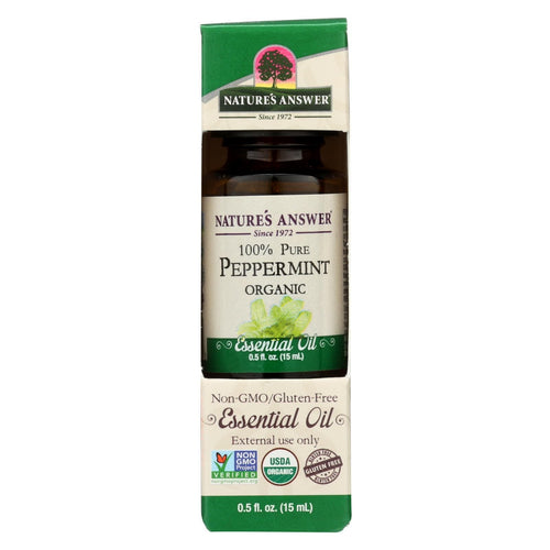 Natures Answer Essential Oil - Organic - Peppermint - .5 Oz
