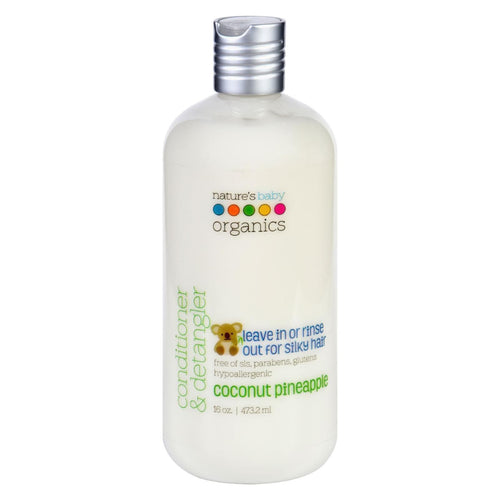 Nature's Baby Organics Conditioner And Detangler - Coconut Pineapple - 16 Oz
