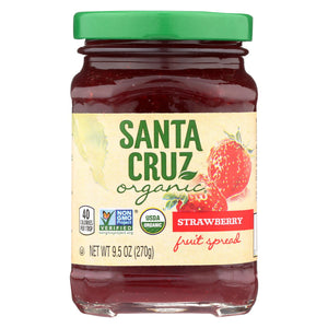Santa Cruz Organic Fruit Spread - Strawberry - Case Of 6 - 9.5 Oz.