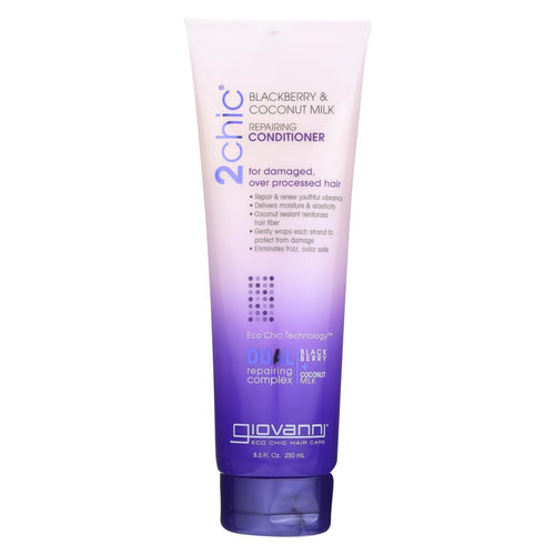 Giovanni Hair Care Products Conditioner - 2chic - Ultra Repair - Blackberry And Coconut Milk - 8.5 Oz