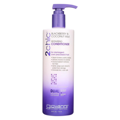 Giovanni Hair Care Products - 2chic Repairing Conditioner Blackberry Coconut Milk - 24 Fl Oz