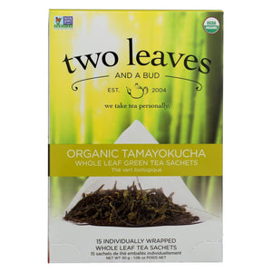 Two Leaves And A Bud Green Tea - Organic Tamayokucha - Case Of 6 - 15 Bags