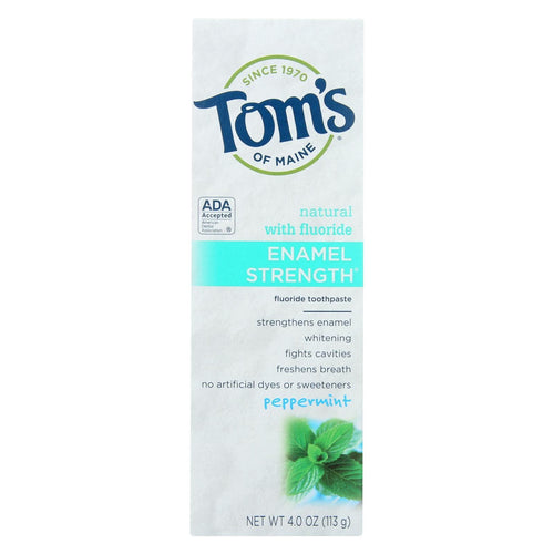 Toms Of Maine Toothpaste - Enamel Strength - Peppermint - 4 Oz - Case Of 6