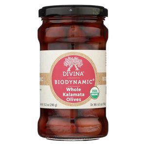 Divina - Olives - Organic - Kalamata - Whole - Case Of 6 - 6.35 Oz