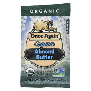 Once Again Almond Butter - Organic - Original - Squeeze Pack - 1.15 Oz - Case Of 10