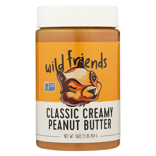 Wild Friends Peanut Butter - Classic Creamy - Case Of 6 - 16 Oz.