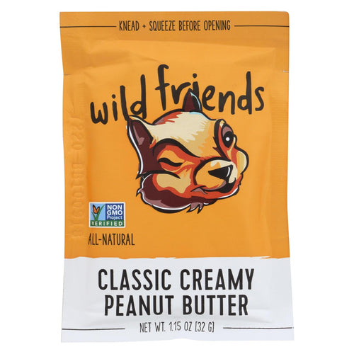 Wild Friends Peanut Butter Packet - Classic Creamy - Case Of 10 - 1.15 Oz