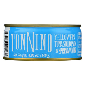 Tonnino Tuna Light - Water - Case Of 12 - 4.9 Oz.