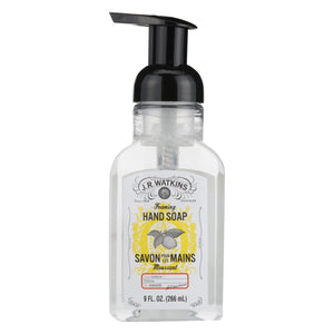 J.r. Watkins Hand Soap - Foaming - Lemon - 9 Oz - Case Of 6