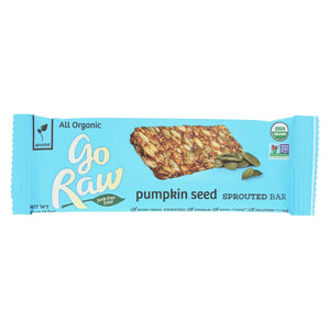 Go Raw - Organic Sprouted Bar - Pumpkin Seed  - Case Of 10 - 0.493 Oz.