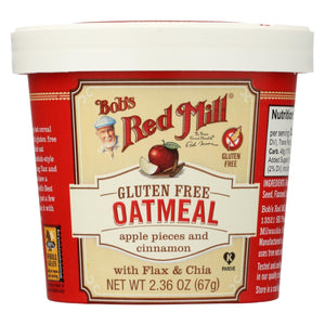 Bob's Red Mill Gluten Free Oatmeal Cup, Apple And Cinnamon - 2.36 Oz - Case Of 12