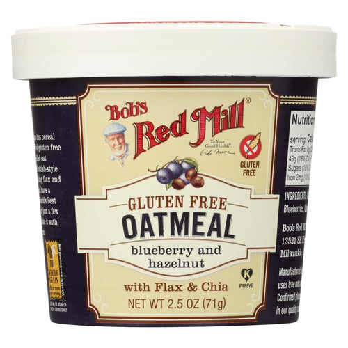 Bob's Red Mill Gluten Free Oatmeal Cup, Blueberry And Hazelnut - 2.5 Oz - Case Of 12